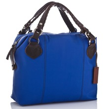 Women bags: Blue Leather Overnight Bag