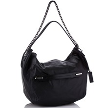 Women bags: Black Leather HBox Handbag