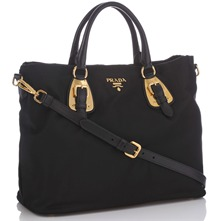 Women bags: Black Branded Flight Bag