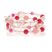 Bracelet rose multi tour perles fantaisies