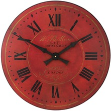 Horloge Warm Red London Dial 36 cm