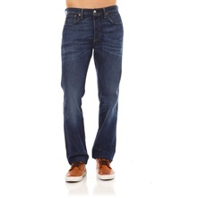 501 - Jeans recht - washed blauw