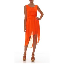 Robe orange fluo