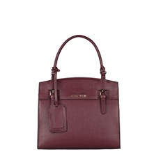 Solene - Sac shopping - en cuir bordeaux