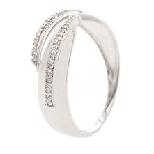 Mata - Bague en or blanc avec diamants - 0,066/20