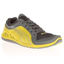 Grey/Yellow Lift Running Trainers