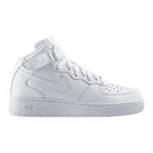 Air Force 1 Mid (GS) - Baskets - blanches