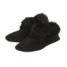 Trendy - Pantofole in shearling di ovino - nero