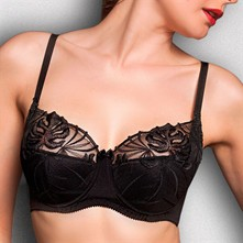 Mercedes - Reggiseno semi-soft con ferretto - nero