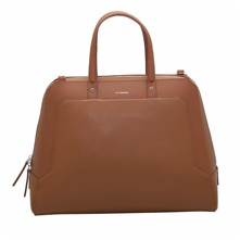 Shopping bag in pelle - marrone