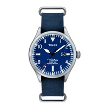 Waterbury Date - Orologio in pelle - blu