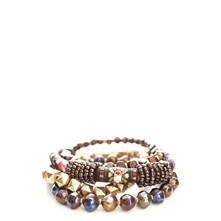 Bracelet multi-rangs - marron