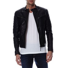 Flash - Veste en cuir - noir