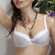 Klaudia - Sujetador push up - beige