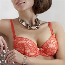 Otylia - Reggiseno push-up - arancione