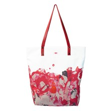 Peachy - Grand sac en polyester et coton - rouge
