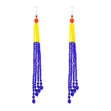 Masai Glass Beads - Orecchini - blu