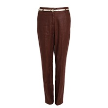 Pantalon en lin - marron