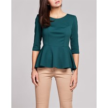 Top con cuello amovible - verde
