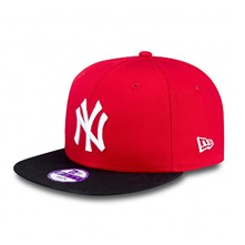 9FIFTY MLB Cotton Block New-York Yankees - Schirmmütze - rot