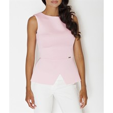 Peplum-Top - rosa