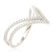 Double Triangle - Zilveren ring - zilver