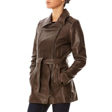 Spring - Trench in pelle - marrone