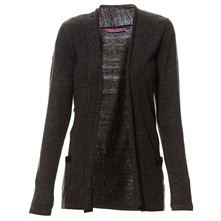 Cardigan in misto cashmere - antracite
