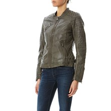 Hall New - Chaqueta de cuero - gris