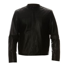Leather 1 - Chaqueta de cuero - negro