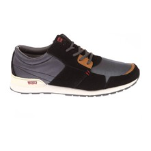 NY RUNNER - Sneakers bi-materiale - nero