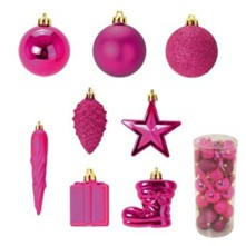Kit  de 40 décorations de noël - rose
