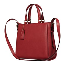 Shopping Bag aus Leder - rot