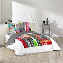 Colored USA - Conjunto de cama 3 piezas - estampado
