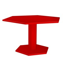 HEXAGONE - Table - rouge