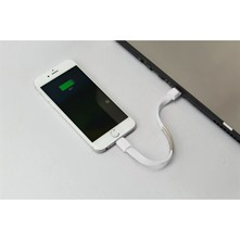 Cable retractable para IPhone 5/5S/5C/6/6S/6 PLUS/6S PLUS, Ipad AIR/AIR 2, Ipad Mini - blanco