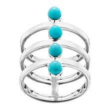 Graphic Turquoise - Bague