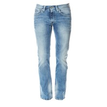 Kingston zip - Jean recto - denim azul
