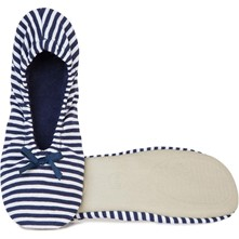 Chaussons ballerines en jersey - rayé