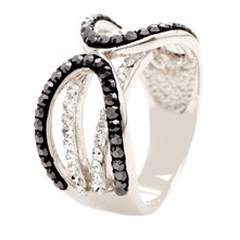 Ensemble Hematite et Crystal - Ring - schwarz