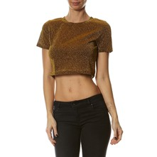 Crop Top - mosterdgeel