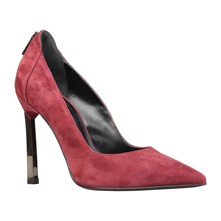 Edith - Pumps aus Leder - bordeauxrot