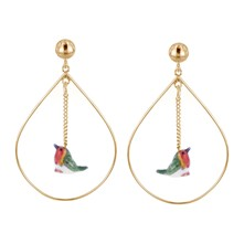 Mini rouge gorge - Pendientes - multicolor