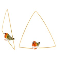 Oiseau mini robin - Pendientes - multicolor