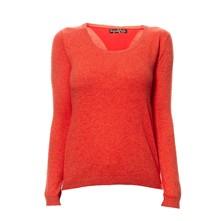 Pullover mit Wollanteil - orange
