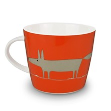 Mug aus Porzellan - orange