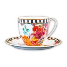 Isabelle - Tazza con piattino - multicolore