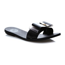 LIFE SLIDE - Teenslippers - zwart