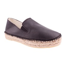 Espadrillas in pelle - nero