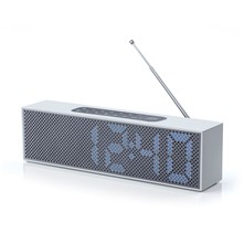 Titanium clock Radio - Producto High-Tech - plateado